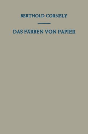 Das Färben von Papier