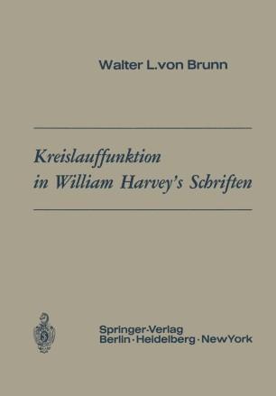 Kreislauffunktion in William Harvey's Schriften