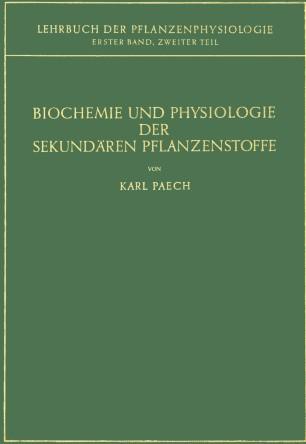 Biochemie und Physiologie der Sekundären Pflanzenstoffe