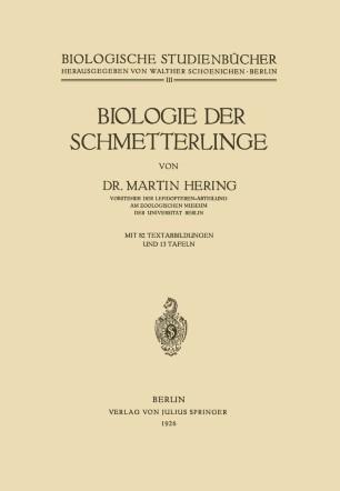 Biologie der Schmetterlinge