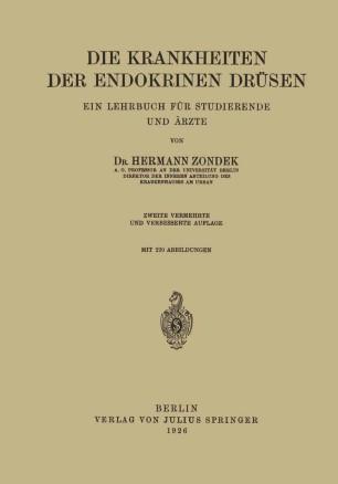 Die Krankheiten der Endokrinen Drüsen | SpringerLink
