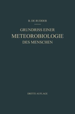 Grundriss Einer Meteorobiologie des Menschen
