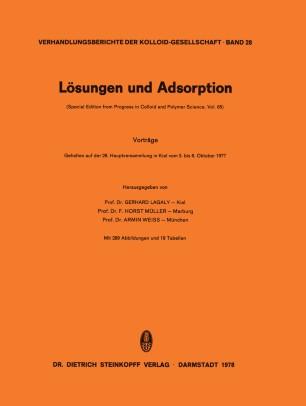 Lösungen und Adsorption