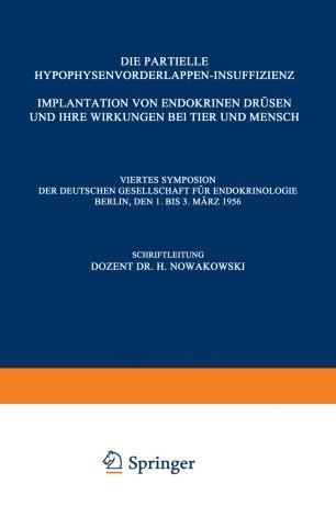 Die Partielle Hypophysenvorderlappen-Insuffizienz Implantation von ...
