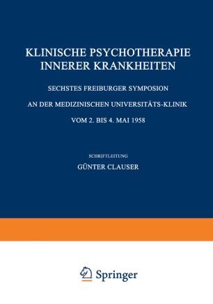 Klinische Psychotherapie Innerer Krankheiten