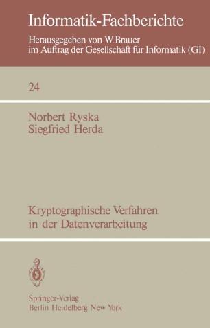 Kryptographische Verfahren in der Datenverarbeitung