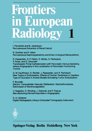 Frontiers in European Radiology