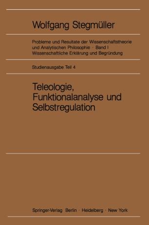 Teleologie, Funktionalanalyse und Selbstregulation (Kybernetik)