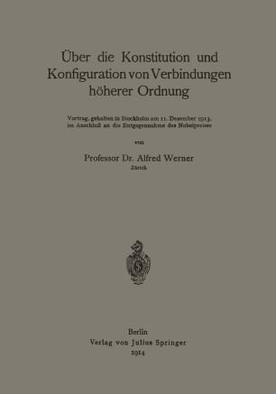 über Die Konstitution Und Konfiguration Von Verbindungen