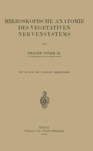 Mikroskopische Anatomie des Vegetativen Nervensystems   SpringerLink