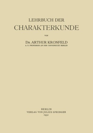 Lehrbuch der Charakterkunde