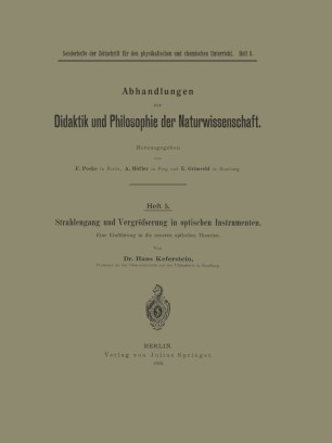 Strahlengang und Vergrößerung in optischen Instrumenten
