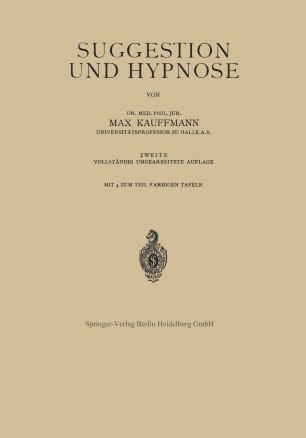 Suggestion und Hypnose