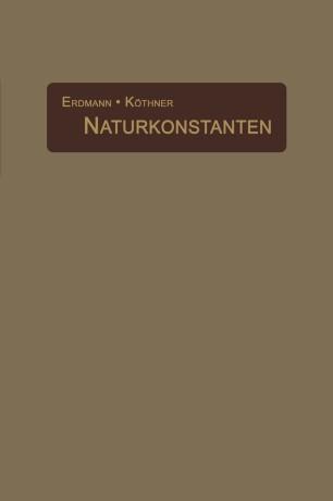 Naturkonstanten in alphabetischer Anordnung