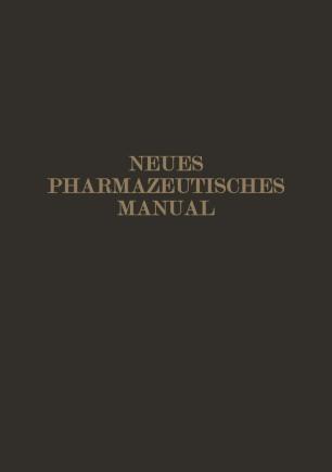 Neues Pharmazeutisches Manual