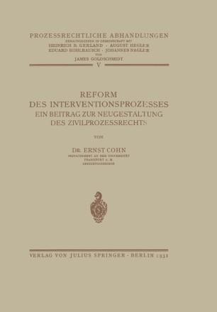 Reform des Interventionsprozesses
