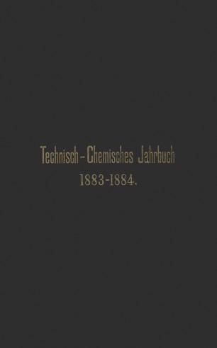 Technisch-Chemisches Jahrbuch 1883–1884