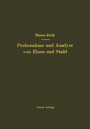 Probenahme und Analyse von Eisen und Stahl