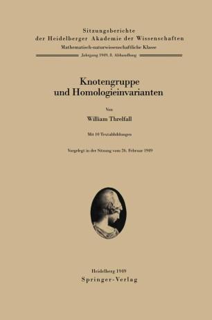 Knotengruppe und Homologieinvarianten