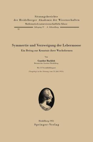 Symmetrie und Verzweigung der Lebermoose