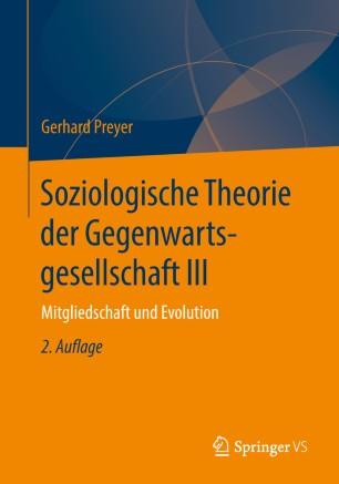 Soziologische Theorie der Gegenwartsgesellschaft III
