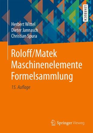 Front cover of Roloff/Matek Maschinenelemente Formelsammlung