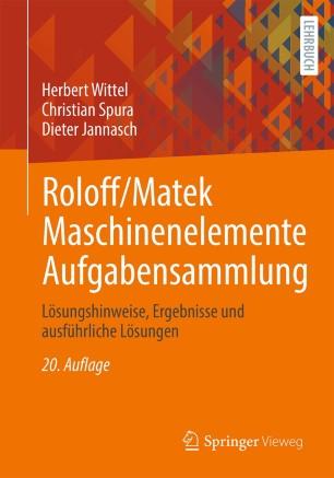 Front cover of Roloff/Matek Maschinenelemente Aufgabensammlung