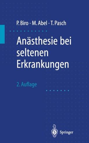 An 228 Sthesie Bei Seltenen Erkrankungen Springerlink border=