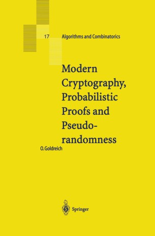 Modern Cryptography, Probabilistic Proofs and Pseudorandomness