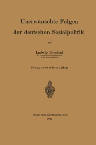 Unerwünschte Folgen der deutschen Sozialpolitik