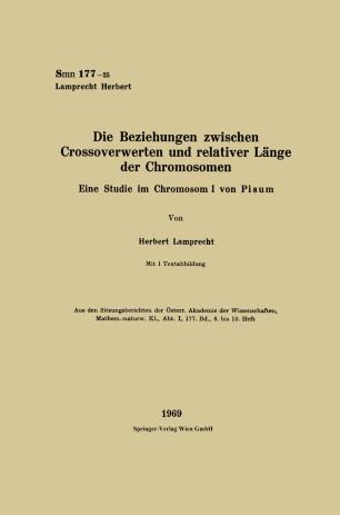 Die Beziehungen zwischen Crossoverwerten und relativer Länge der Chromosomen