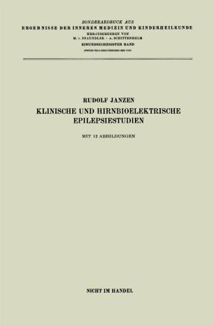 Klinische und hirnbioelektrische Epilepsiestudien