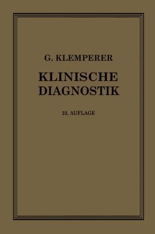 Grundriss der Klinischen Diagnostik