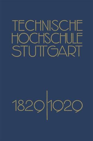 Festschrift der Technischen Hochschule Stuttgart