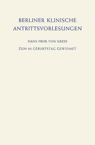 Berliner Klinische Antrittsvorlesungen
