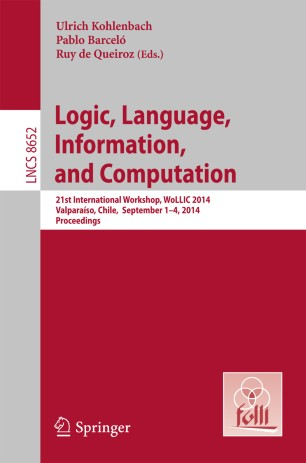 Logic, Language, Information, and Computation