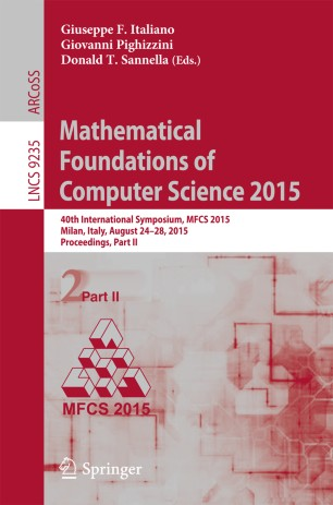 Mathematical Foundations of Computer Science 2015