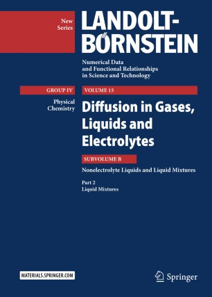 Diffusion in Gases, Liquids and Electrolytes