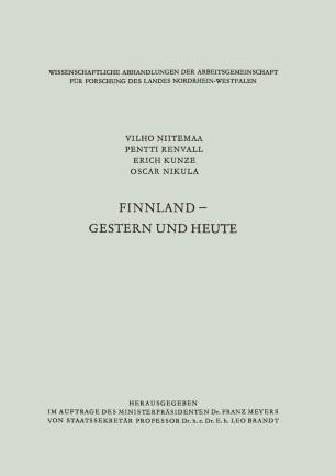 Finnland — gestern und heute