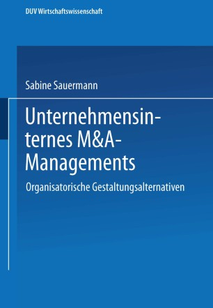 Unternehmensinternes M&A-Management