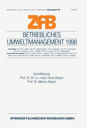 Betriebliches Umweltmanagement 1998