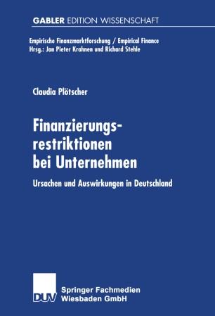 Finanzierungsrestriktionen bei Unternehmen