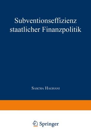 Subventionseffizienz staatlicher Finanzpolitik