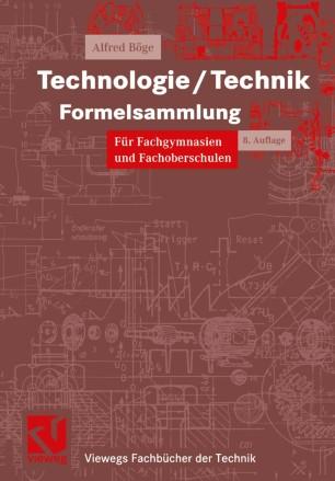 Technologie/Technik Formelsammlung