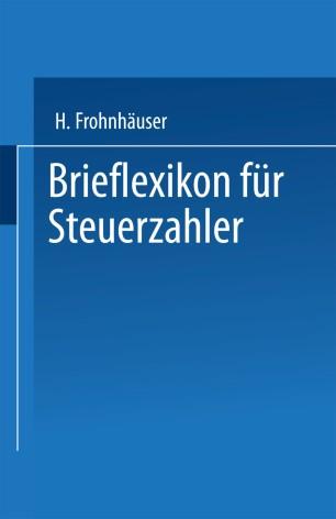 Brieflexikon für Steuerzahler