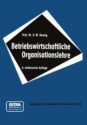 Betriebswirtschaftliche Organisationslehre