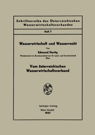 Wasserwirtschaft und Wasserrecht