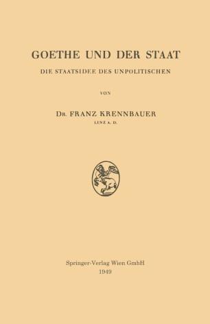 Goethe und der Staat