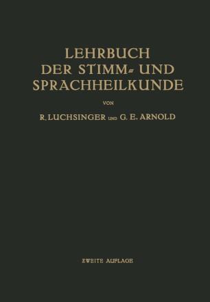 Lehrbuch der Stimm- und Sprachheilkunde
