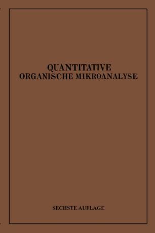 Quantitative Organische Mikroanalyse
